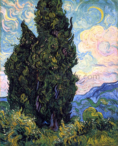 Vincent Van Gogh Cypresses - Hand Painted Oil Painting