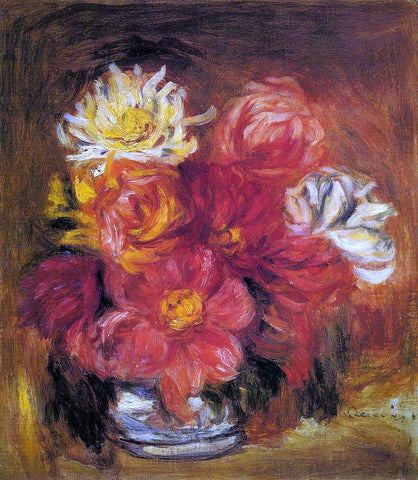 Pierre Auguste Renoir Dahlias - Hand Painted Oil Painting