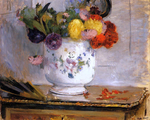 Berthe Morisot Dahlias - Hand Painted Oil Painting