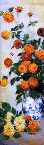 Claude Oscar Monet Dahlias - Hand Painted Oil Painting