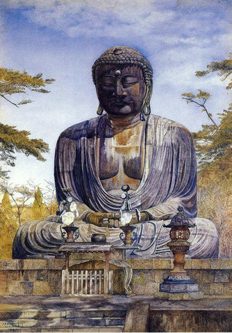 Henry Roderick Newman Daibutsu at Kamakura, Japan - Hand Painted Oil Painting