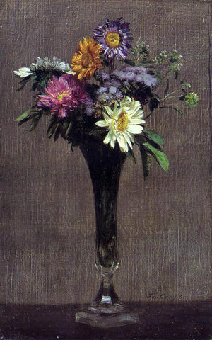Henri Fantin-Latour Daisies and Dahlias - Hand Painted Oil Painting