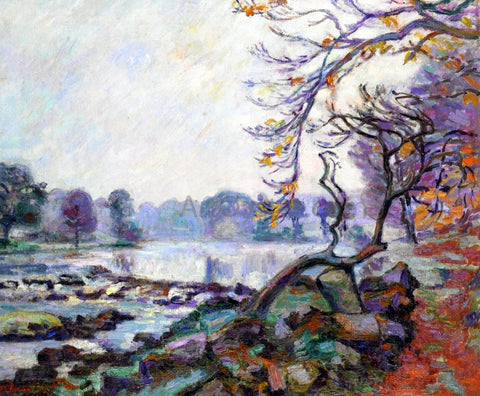 Armand Guillaumin Dam at Genetin, Crozant - Hand Painted Oil Painting