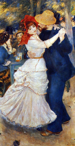 Pierre Auguste Renoir A Dance at Bougival - Hand Painted Oil Painting