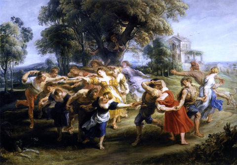 Peter Paul Rubens Dance of Italian Villagers - Hand Painted Oil Painting