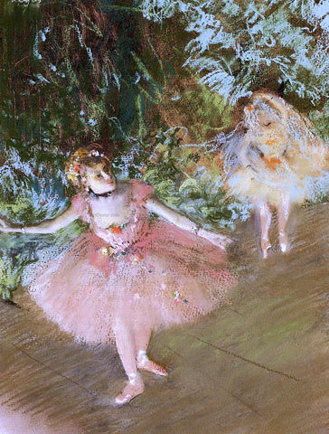 Edgar Degas A Dancer on Stage - Hand Painted Oil Painting
