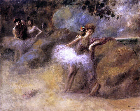 Jean-Louis Forain Dancer on the Set - Hand Painted Oil Painting