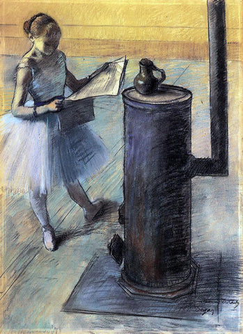 Edgar Degas Dancer Resting - Hand Painted Oil Painting