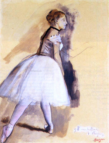 Edgar Degas Dancer Standing (study) - Hand Painted Oil Painting