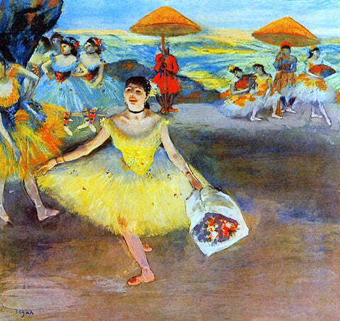 Edgar Degas Dancer with a Bouquet Bowing - Hand Painted Oil Painting