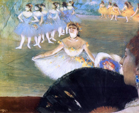 Edgar Degas Dancer with a Bouquet of Flowers - Hand Painted Oil Painting