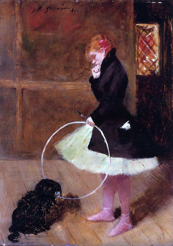 Jean-Louis Forain Dancer with a Hoop - Hand Painted Oil Painting