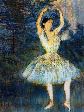 Edgar Degas Dancer with Raised Arms - Hand Painted Oil Painting