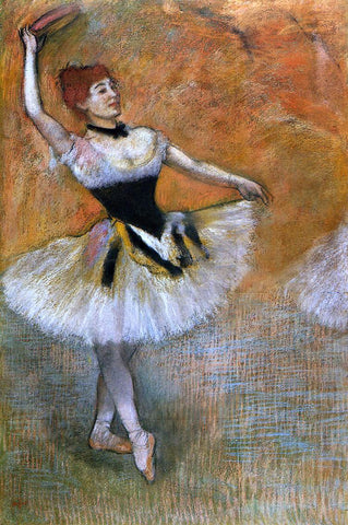 Edgar Degas Dancer with Tambourine - Hand Painted Oil Painting