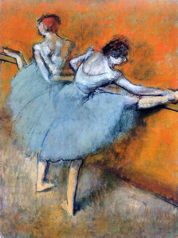 Edgar Degas Dancers at the Barre - Hand Painted Oil Painting