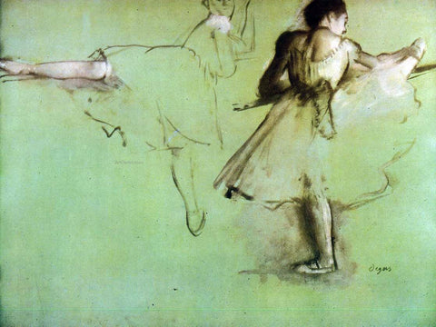 Edgar Degas Dancers at the Barre (study) - Hand Painted Oil Painting