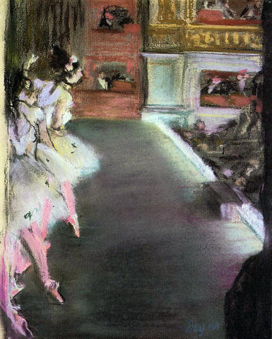 Edgar Degas Dancers at the Old Opera House - Hand Painted Oil Painting