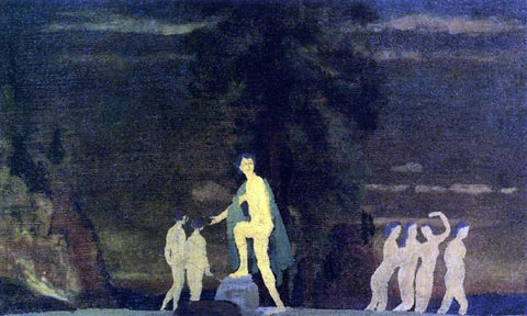 Arthur B Davies Dancers in a Landscape - Hand Painted Oil Painting