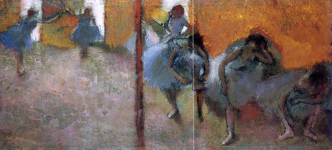Edgar Degas Dancers in a Studio - Hand Painted Oil Painting