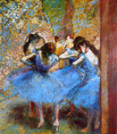 Edgar Degas Dancers in Blue - Hand Painted Oil Painting