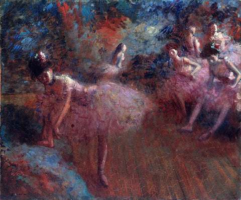 Jean-Louis Forain Dancers in Pink - Hand Painted Oil Painting