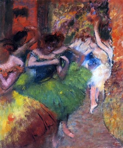 Edgar Degas Dancers in the Wings - Hand Painted Oil Painting