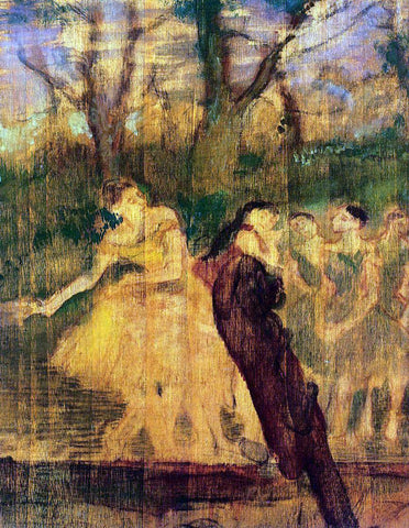 Edgar Degas Dancers on the Scenery - Hand Painted Oil Painting