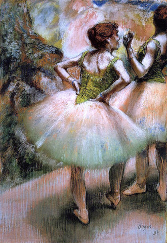 Edgar Degas Dancers, Pink and Green - Hand Painted Oil Painting