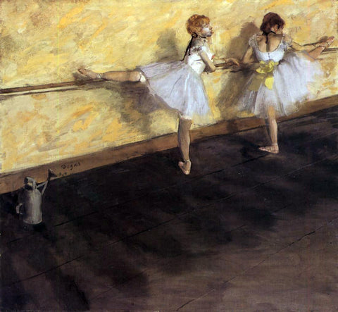 Edgar Degas Dancers Practicing at the Barre - Hand Painted Oil Painting