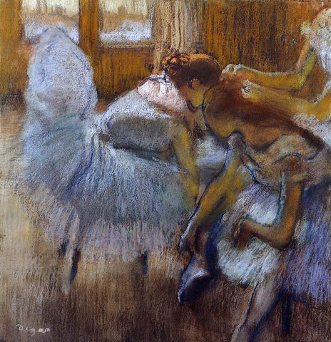 Edgar Degas Dancers Relaxing - Hand Painted Oil Painting