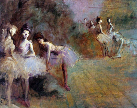 Jean-Louis Forain Dancers Resting - Hand Painted Oil Painting