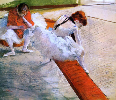 Edgar Degas Dancers Resting - Hand Painted Oil Painting