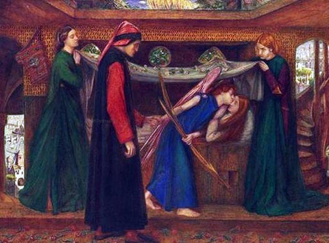 Dante Gabriel Rossetti Dante's Dream at the Time of the Death of Beatrice - Hand Painted Oil Painting