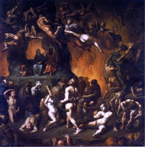 Paul Chenavard Dante's Inferno - Hand Painted Oil Painting