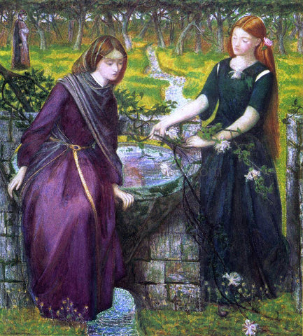 Dante Gabriel Rossetti Dante's Vision of Rachel and Leah - Hand Painted Oil Painting