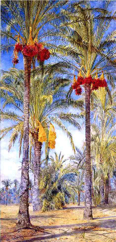Henry Roderick Newman Date Trees, Ramleh, Egypt - Hand Painted Oil Painting