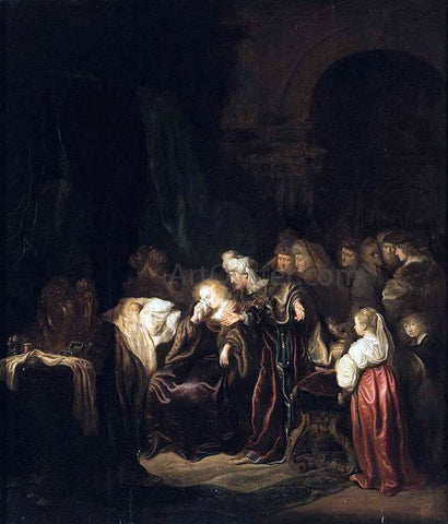 Salomon Koninck David and Batsheba Mourning over Their Dead Son - Hand Painted Oil Painting