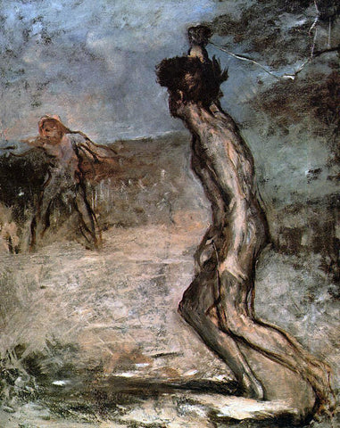 Edgar Degas David and Goliath - Hand Painted Oil Painting