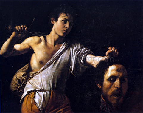 Caravaggio David with the Head of Goliath - Hand Painted Oil Painting