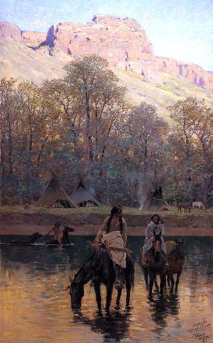 Henry F Farney Days of Long Ago - Hand Painted Oil Painting