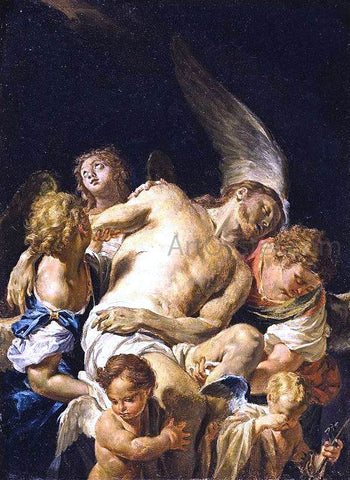 Francesco Trevisani Dead Christ Supported by Angels - Hand Painted Oil Painting