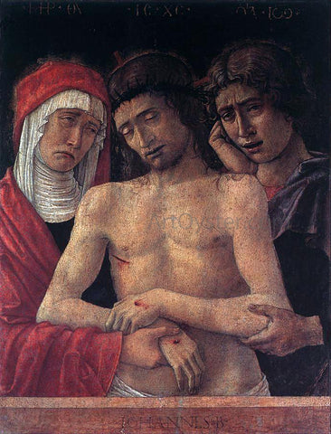 Giovanni Bellini Dead Christ Supported by the Madonna and St John (Pieta) - Hand Painted Oil Painting