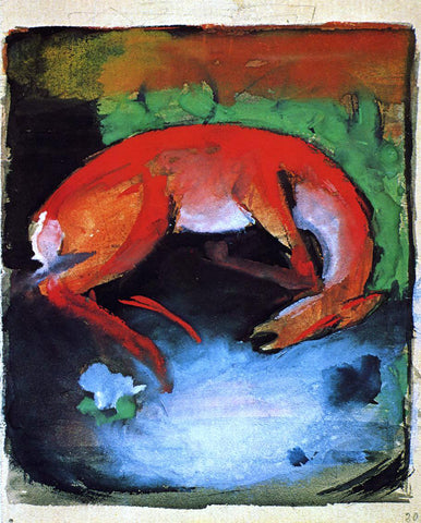 Franz Marc Dead Deer - Hand Painted Oil Painting