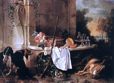 Jean-Baptiste Oudry The Dead Wolf - Hand Painted Oil Painting