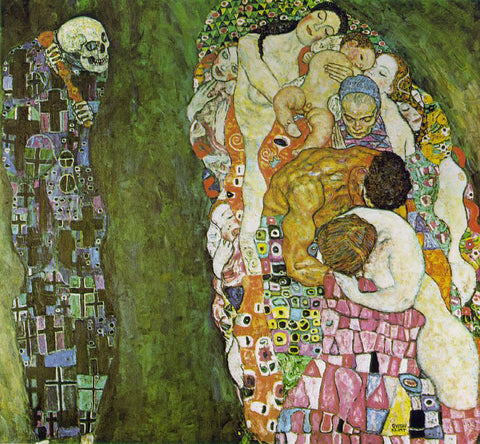 Gustav Klimt Death and Life - Hand Painted Oil Painting