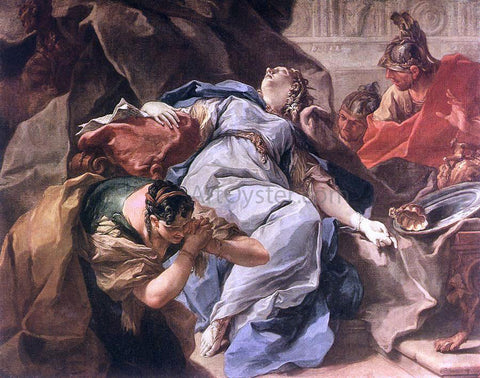Giambattista Pittoni Death of Sophonisba - Hand Painted Oil Painting