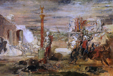 Gustave Moreau Death Offers the Crown to the Tornament Vircor - Hand Painted Oil Painting