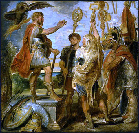 Peter Paul Rubens Decius Mus Addressing the Legions - Hand Painted Oil Painting