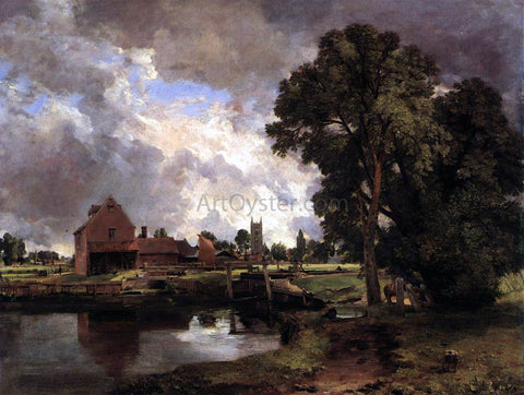 John Constable Dedham Lock and Mill - Hand Painted Oil Painting