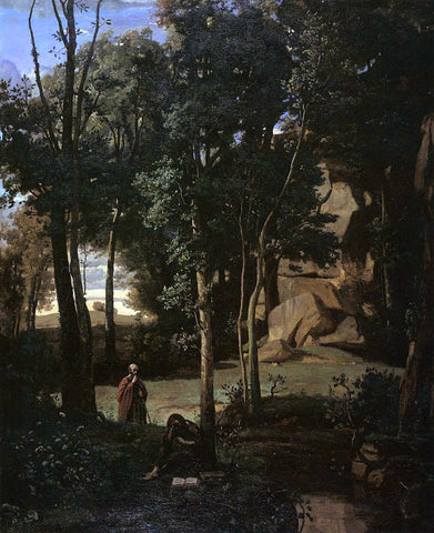 Jean-Baptiste-Camille Corot Democritus and the Abderites - Hand Painted Oil Painting
